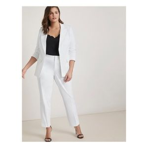 Eloquii One Button Blazer With Slim Leg Trousers